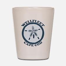 """Wellfleet MA """"Sand Dollar"""" Design. Shot Glass"""