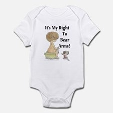 It's My Right To Bear Arms! Infant Creeper