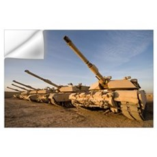 M1 Abrams tanks at Camp Warhorse Wall Decal
