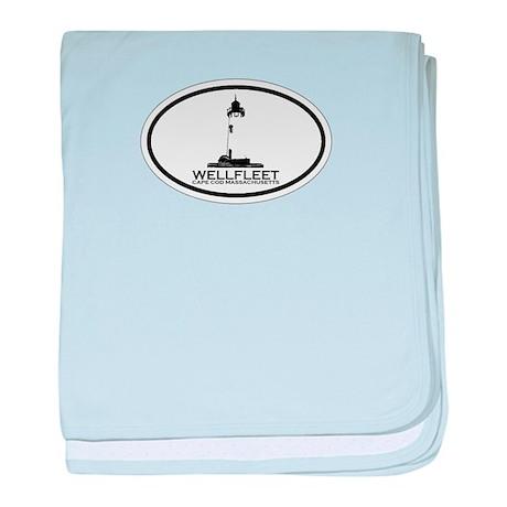 """Wellfleet MA """"Oval"""" Design. baby blanket"""