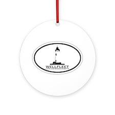"Wellfleet MA ""Oval"" Design. Ornament (Round)"