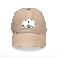 """Wellfleet MA """"Oval"""" Design. Baseball Cap"""