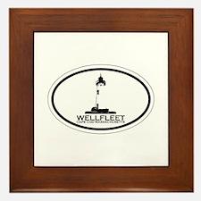 """Wellfleet MA """"Oval"""" Design. Framed Tile"""