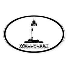 "Wellfleet MA ""Oval"" Design. Decal"