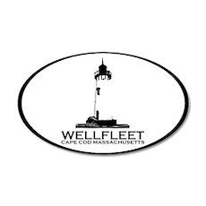 "Wellfleet MA ""Oval"" Design. 22x14 Oval Wall Peel"