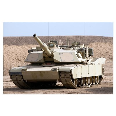M1 Abrams tank at Camp Warhorse Poster