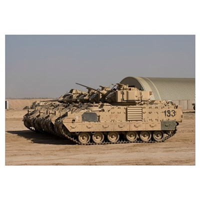 M2/M3 Bradley Fighting Vehicles Canvas Art