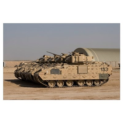 M2/M3 Bradley Fighting Vehicles Poster