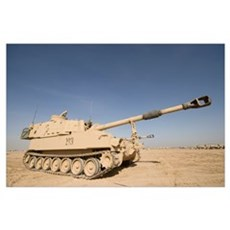 M109 Paladin a selfpropelled 155mm howitzer Poster