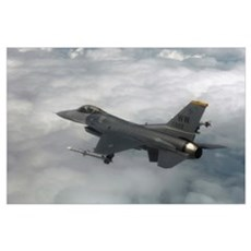 An F16 Fighting Falcon in flight Poster