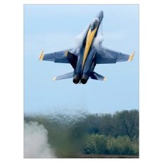 Lead solo pilot of the Blue Angels performs a high Poster