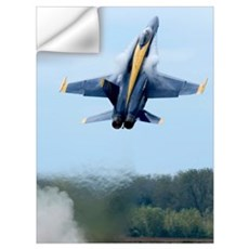 Lead solo pilot of the Blue Angels performs a high Wall Decal