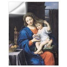 The Virgin of the Grapes, 1640-50 (oil on canvas) Wall Decal