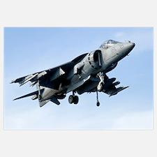 An AV8B Harrier in flight