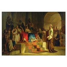 Trial of the Apostle Paul (oil on canvas)