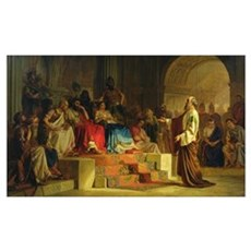 Trial of the Apostle Paul (oil on canvas) Poster
