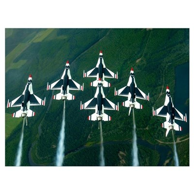 he Thunderbird aerial demonstration team performs Canvas Art