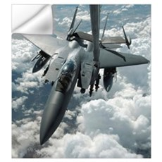 An F15 E Strike Eagle receives fuel from a KC10 Ex Wall Decal