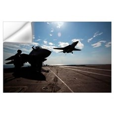 An F14D Tomcat prepares to make an arrested landin Wall Decal