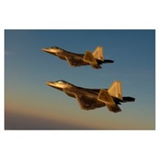 F22A Raptors fly over Langley Air Force Base Virgi Canvas Art