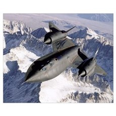 SR71B Blackbird in flight Canvas Art