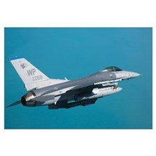An F16 Fighting Falcon in flight