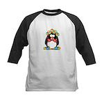 Clown penguin Kids Baseball Jersey