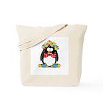 Clown penguin Tote Bag