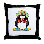 Clown penguin Throw Pillow