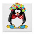 Clown penguin Tile Coaster