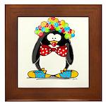 Clown penguin Framed Tile
