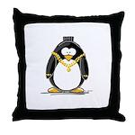 Bling penguin Throw Pillow