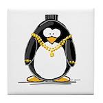 Bling penguin Tile Coaster