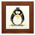 Bling penguin Framed Tile