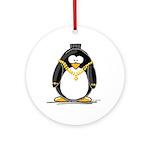 Bling penguin Ornament (Round)