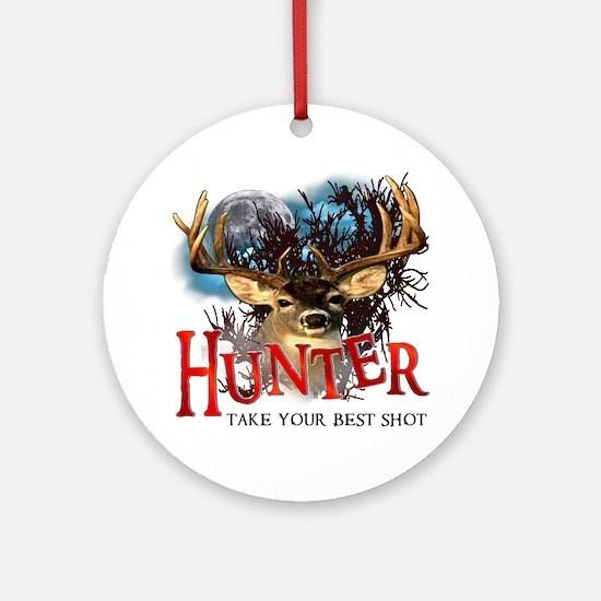Hunter take your best shot De Ornament (Round)