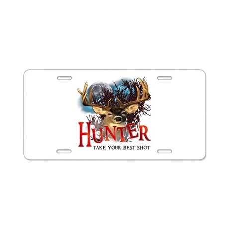 Hunter take your best shot De Aluminum License Pla