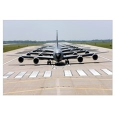Six KC135 Stratotankers demonstrate the elephant w Canvas Art