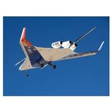The Blended Wing Body X48B soars through the sky Poster