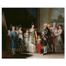 Charles IV (1748-1819) and his family, 1800 (oil o Canvas Art