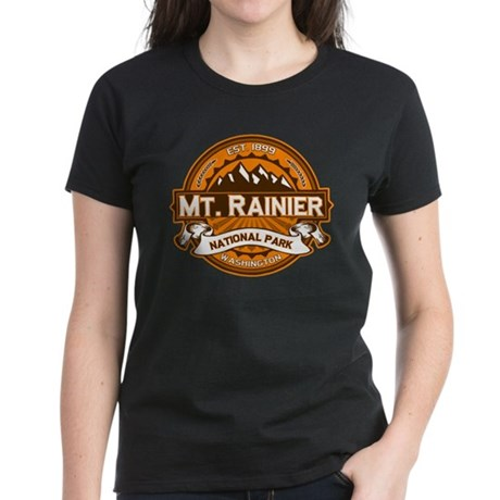 Mt. Rainier Pumpkin Women's Dark T-Shirt