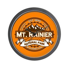 Mt. Rainier Pumpkin Wall Clock