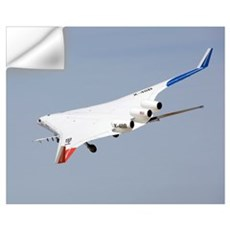 X48B Blended Wing Body in flight Wall Decal