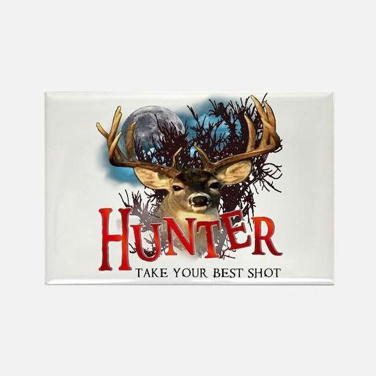 Hunter take your best shot De Rectangle Magnet