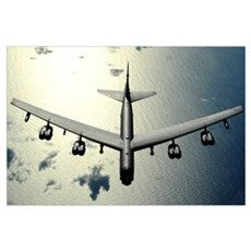 A B52 Stratofortress in flight over the Pacific Oc Canvas Art