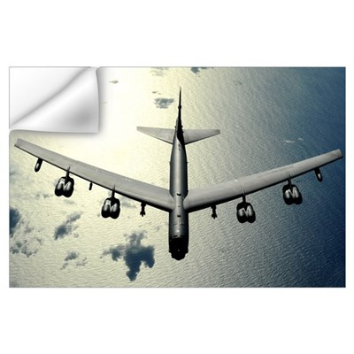 A B52 Stratofortress in flight over the Pacific Oc Wall Decal