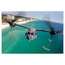 A CV22 Osprey aircraft flies over Floridas Emerald