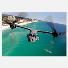A CV22 Osprey aircraft flies over Floridas Emerald