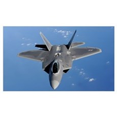 An F22 Raptor moves into position to receive fuel Canvas Art