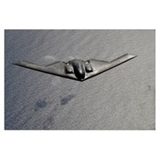 A B2 Spirit flies over the Pacific Ocean Canvas Art